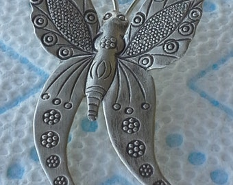 Hand made  Silver butterfly pendant