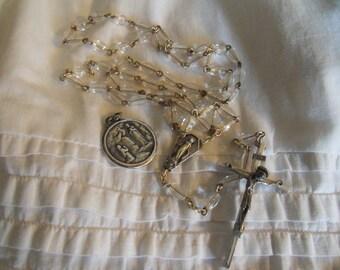 Lourdes Centenary Pendant and Italian Rosary