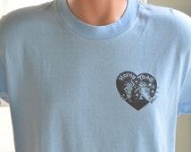 80s T-Shirt Horny Toad Cave Creek, Arizona Restaurant Bar Old West Baby Blue Tee Unisex