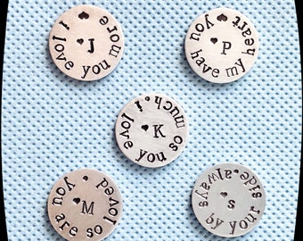 Pocket Token, Love Token, Stamped Pocket Coin, Custom Gift, Husband, Wife, Military Gift, GOLF BALL Marker