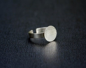 12mm disc  925 sterling silver ring blank
