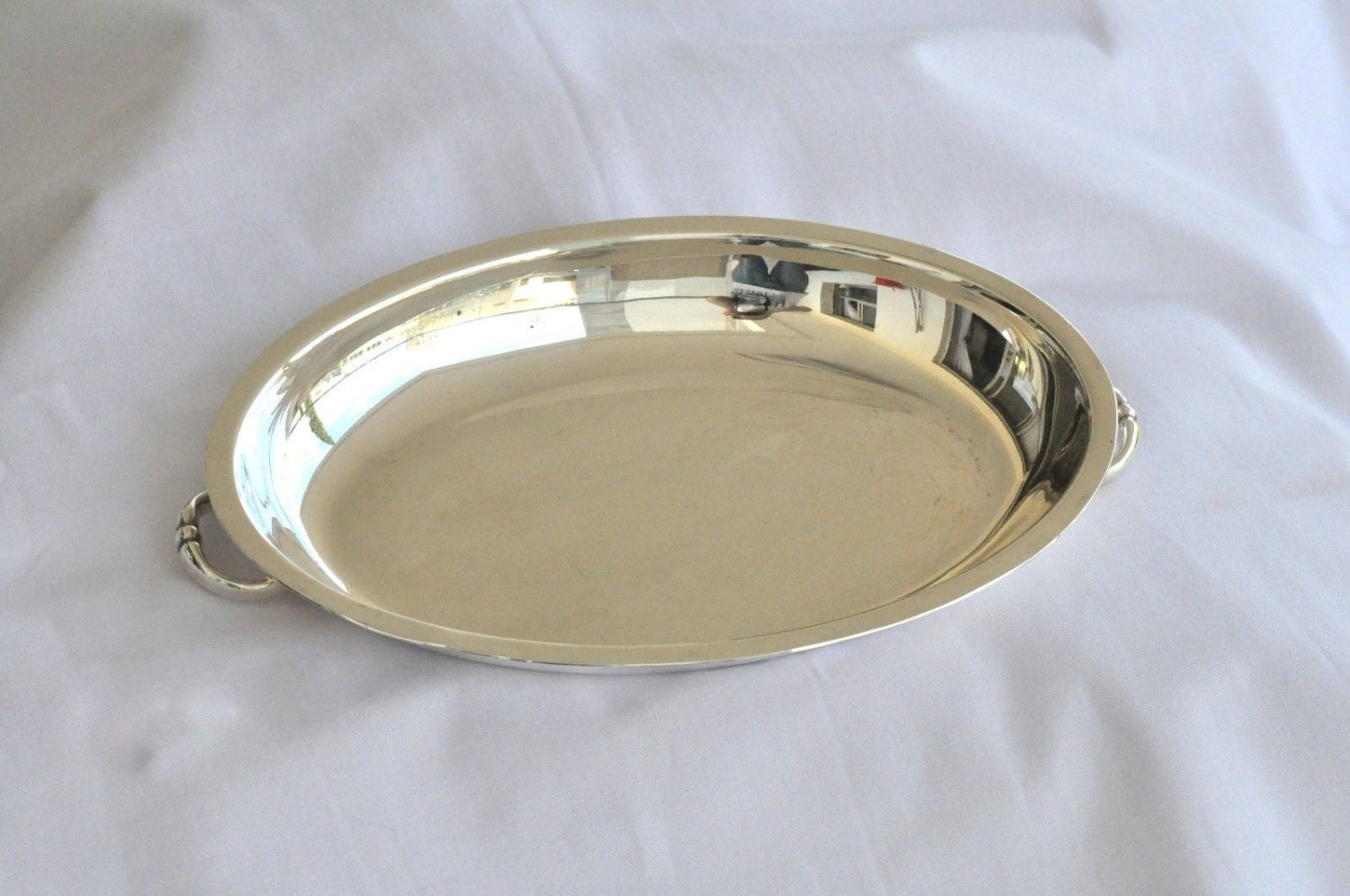 Antique 925 sterling silver tray vintage serving tray