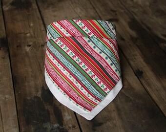 Holiday Stripes Scarf Bib