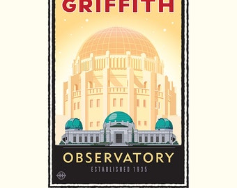 Landmark CA | Griffith Park Observatory Gold by Mark Herman