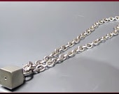 Vintage Sterling Silver Necklace with Box Charm