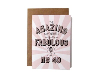 Amazing Adventures of the Fabulous Ms 40 Card