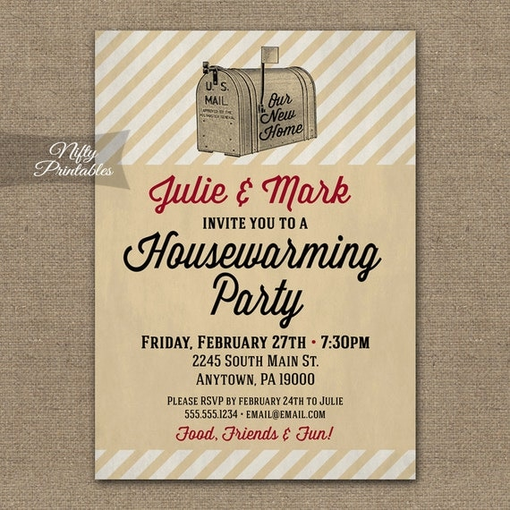 Trust image with printable housewarming invitations