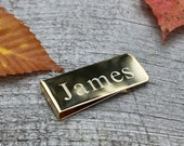 Personalized Engraved Gold Money Clip Perfect Valentine Gift for him