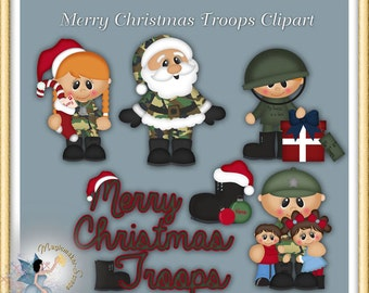Soldier Clipart, Santa Claus, Merry Christmas Troops