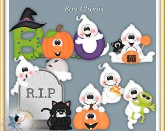Boo clipart | Etsy