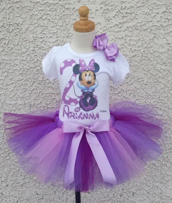 Simple Purple Minnie Mouse Tutu With Birthday Number
