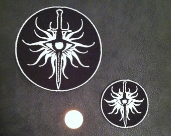 """Dragon Age Inquisition """"Inquisitor"""" and Seekers of Truth Heraldry/Insignia Embroidered Patch"""