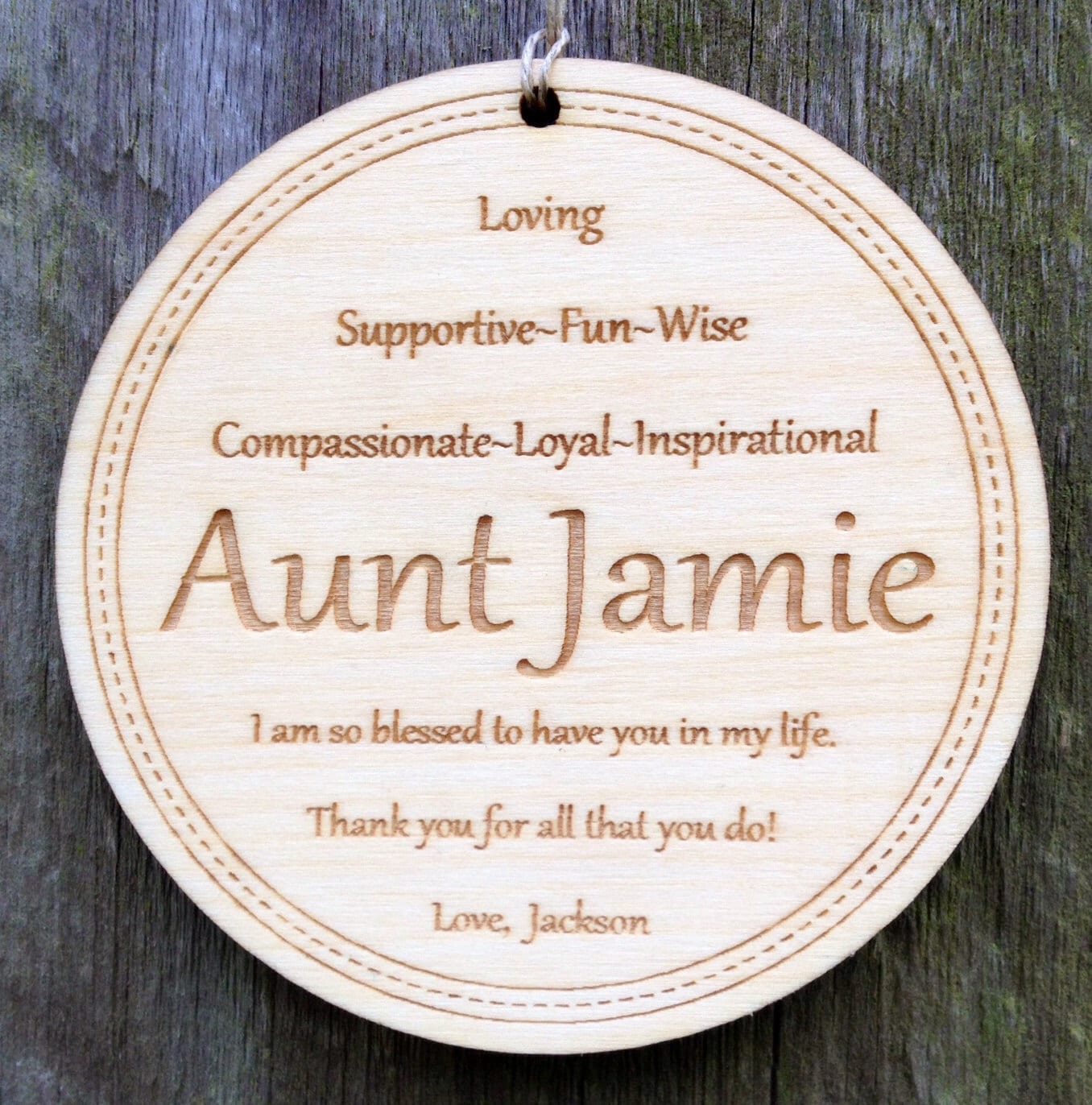 Personalized Aunt Ornament: Christmas Gift for Aunt/Engraved