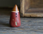 Miniature Cob House - Hand Sculpted Clay House - Rustic Gnome Home - Ready To Ship