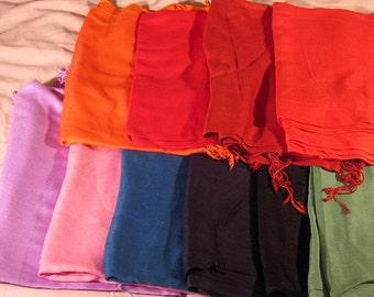 Fab gift item-Retro/Vintage Plain-Pashmina-70/30silk shawl-many colours available