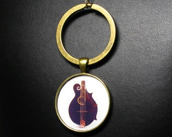 F-4  Black Mandolin Key-Chain