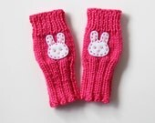 Cute Toddlers Fingerless Gloves, Girls Gloves, Bunny Gloves, Rabbit Kids Gloves, Watermelon Toddlers, Small Cute Kids