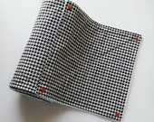 Reusable Paper Towel,  Unpaper Towels Set,  Houndstooth, Ecofriendly Kitchen Towels, Houndstooth Napkins