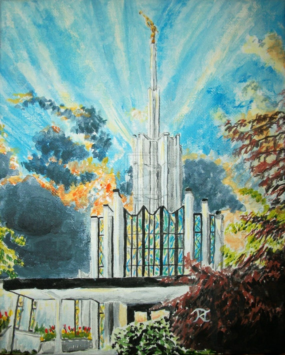 Atlanta georgia lds temple sunset digital download of for Atlanta mural artist