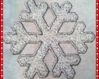 Snowflake 1 Machine Embroidery Appliqué Christmas Xmas