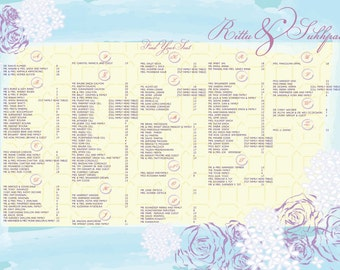 Floral Watercolour Seating Chart