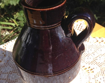 Rare Stoneware jug with wide mouth