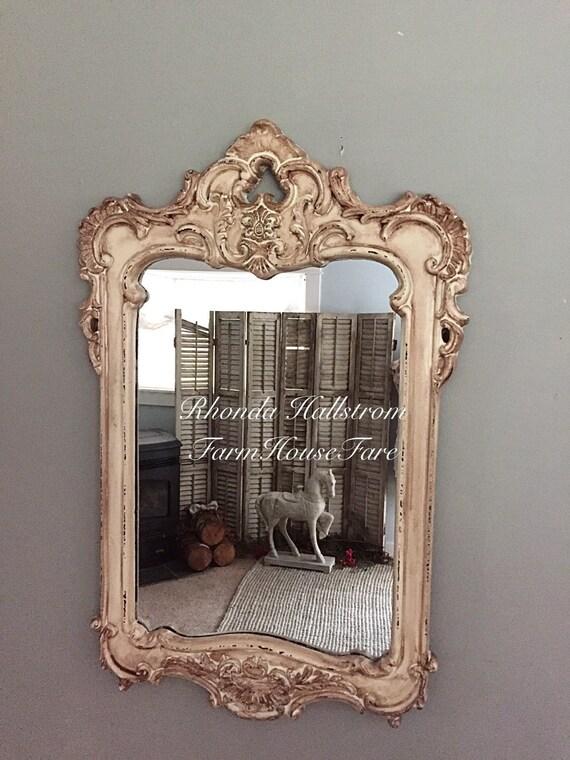 French decorative wall hanging mirror baroque by farmhousefare for Baroque bathroom mirror