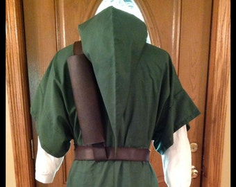 3 Piece Costume For Legend Of Zelda Link, Cosplay, Elf or Warrior-Tunic, Hat and Belt/Strap Only