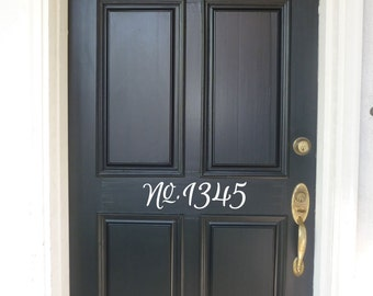 Fancy Vinyl House Number Decal, Front Door Address, vinyl door numbers, Front Door Numbers, Front Door Decor, House Address Numbers