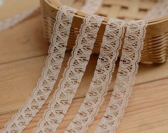 nude lace trim ,1.5cm beige Lace Trim for sewing ,DIY vintage lace ribbon