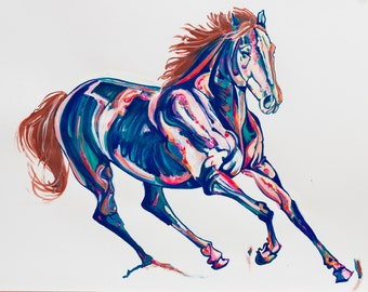 Horse Painting of 'Sapphire'