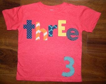 Toddler Birthday Shirt, Toddler Boy Birthday Shirt, 3rd Birthday Shirt