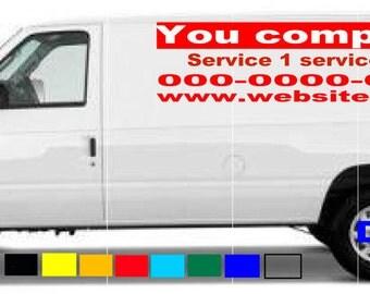 van truck custom vinyl lettering business signs vehicles decals stickers graphics Quantity 2