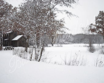 Country winter, Winter Wonderland, winter, snow, barn, winter scene, winter photography, country, red barn, country scene, rustic, wall art