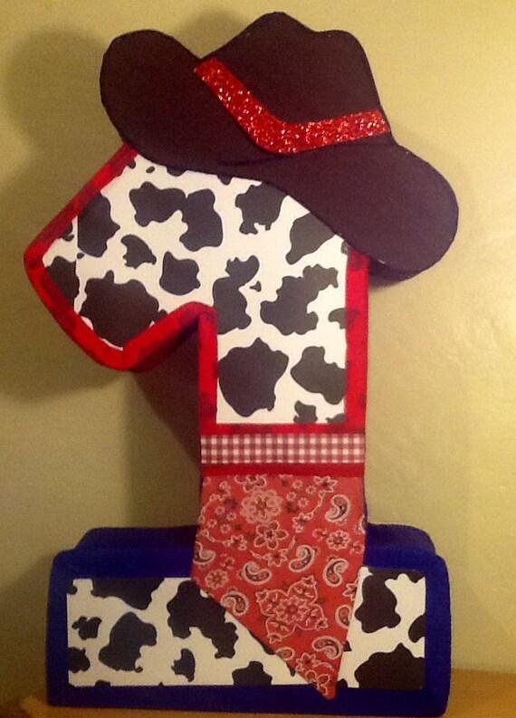 First Birthday Cowboy Pinata Cowboy Party Themed Cowboy