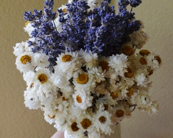 Wedding Bouquet,Dried Flower Bouquet, English Lavender Bouquet, Dried FLower wedding Bouquet -  Can Be Made to Order