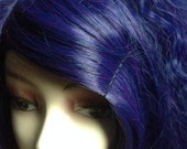 Warrior Tight Crimped Hime Gyaru Layered Wig in Violet Navy Mix