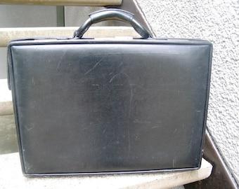 Vintage Black Leather Hartmann Luggage Briefcase