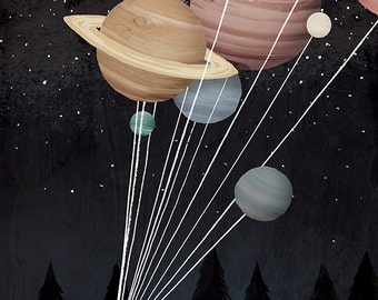 Balloons Lithograph Art print by Adam Fisher