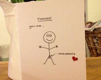Amazeballs Thank You Card