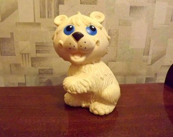 """Vintage soviet rubber toy """"Dog"""". Made in the USSR. RARE!"""