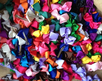 """3"""" bow, 1 dollar each when you buy 19, 3"""" grosgrain bows in a variety of colors"""