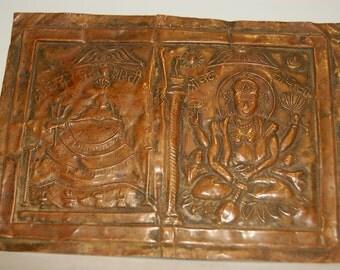 Copper votive plate of Vishnu