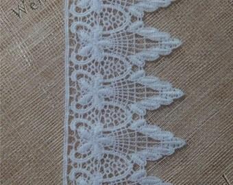 """Wedding lace trim white lace trim Venice lace   3"""" , white lace trim, Venice needle lace DC111505 by the yard"""