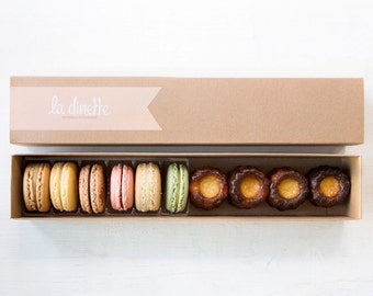 Box 6 Classic Macarons + 4 Cannelés