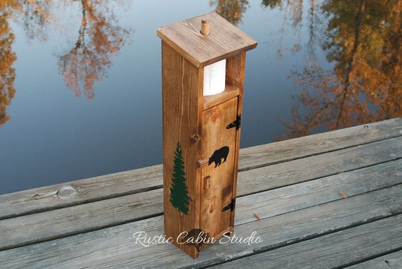 Rustic Black Bear Toilet Paper Holder By Rusticcabinstudio