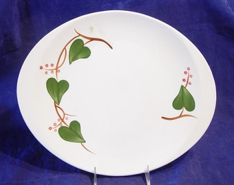 """Southern Pottery Blue Ridge STANHOME IVY Large Oval Serving Platter 14"""""""