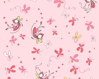 Butterfly Dance - Pink Main - Riley Blake (C3890-PINK) Fabric Yardage