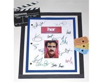 Her Movie Script Signed Screenplay Autographed: Spike Jonze, Scarlett Johansson, Amy Adams, Olivia Wilde