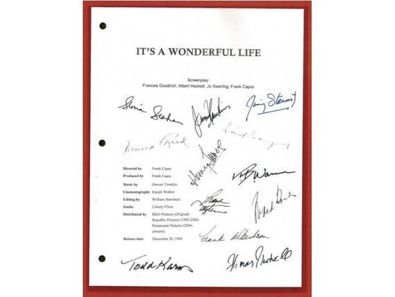 It 39 S A Wonderful Life Movie Script Signed Autographed